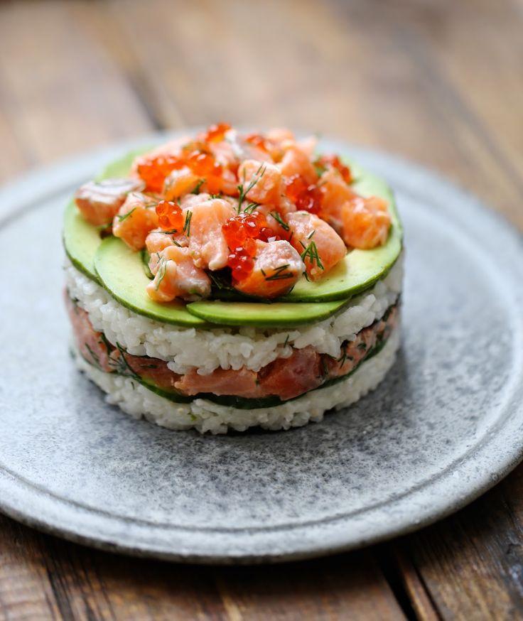 Salmon-Sushi-Cake