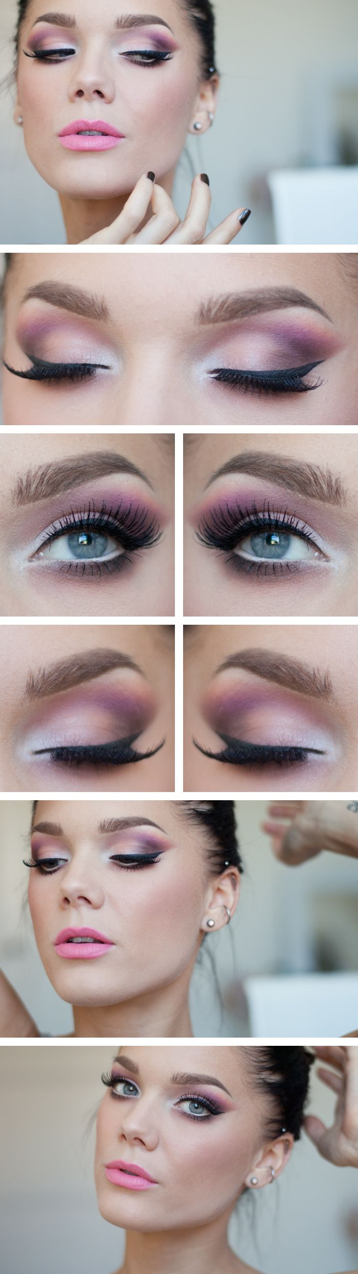Pink-and-White-Eye-Shadow