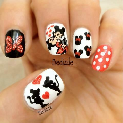diseños-uñas-Minnie-y-Micky-Mouse-Nail-Art-Design-06