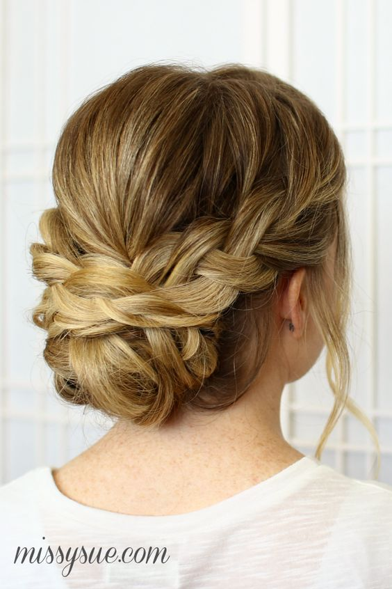 Soft-Braided-Updo-for-Wedding-Hair