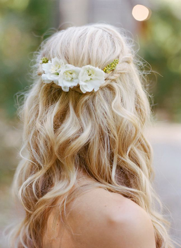 braided-loose-waves-floral-hairpiece-wedding-hairstyle