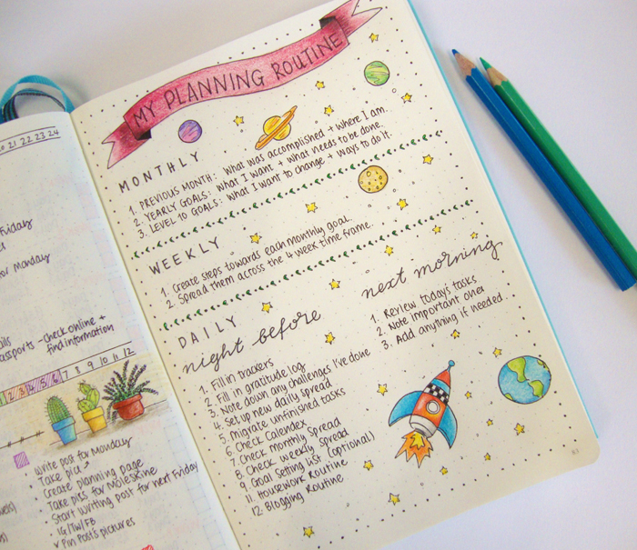 My bullet journal planning routine - christina77star