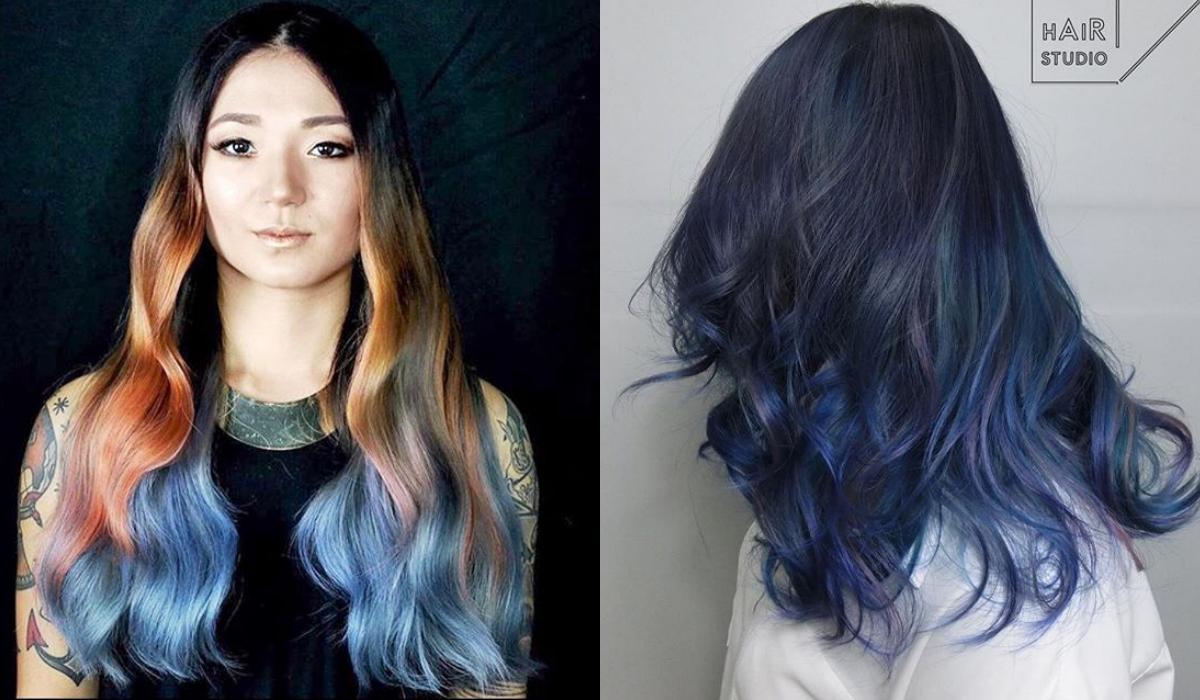 สีผมสีน้ำเงิน
