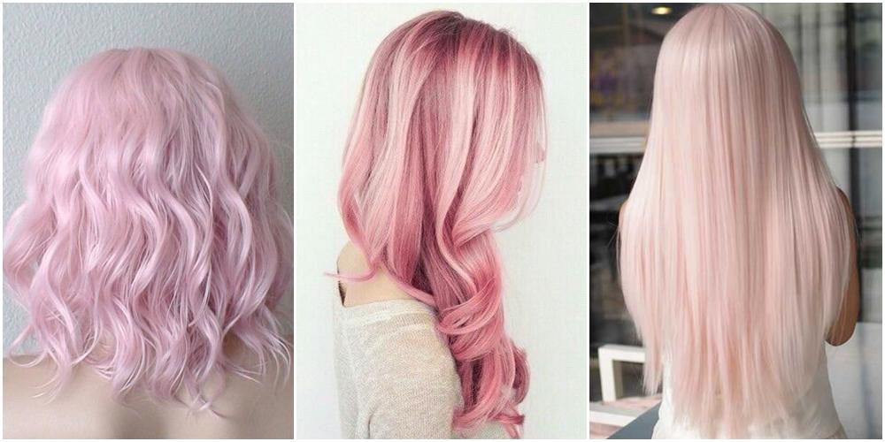 สีผมสีชมพู