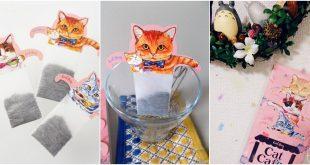 ฮิตสุดในญี่ปุ่น! cat bubble tea bag ถุงชาแมวเหมียวน่ารัก