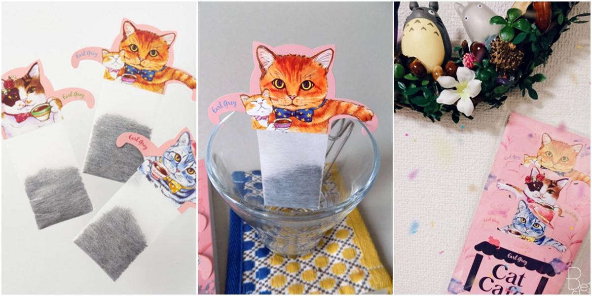 """ฮิตมากในญี่ปุ่นตอนนี้ """"cat bubble tea bag"""" จิบชายามบ่ายกับเหล่าแมวเหมียวน่ารัก"""