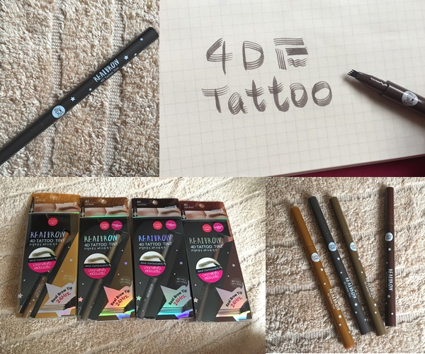 4d akerufeed for Cathy doll real brow 4d tattoo tint