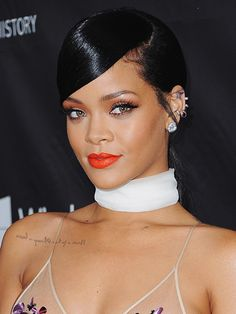 HOLLYWOOD, CA - OCTOBER 29: Singer Rihanna arrives at the 2014 amfAR LA Inspiration Gala at Milk Studios on October 29, 2014 in Hollywood, California. (Photo by Jon Kopaloff/FilmMagic)