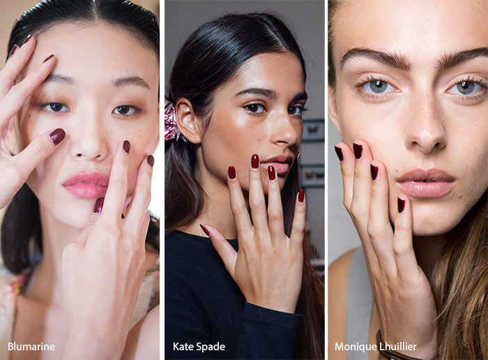 spring_summer_2017_nail_art_manicure_trends_burgundy_nail_polish