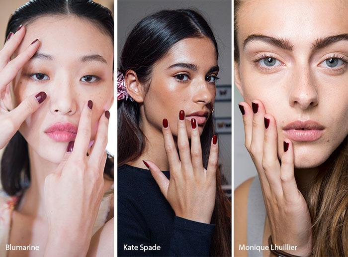 spring_summer_2017_nail_art_manicure_trends_burgundy_nail_polish