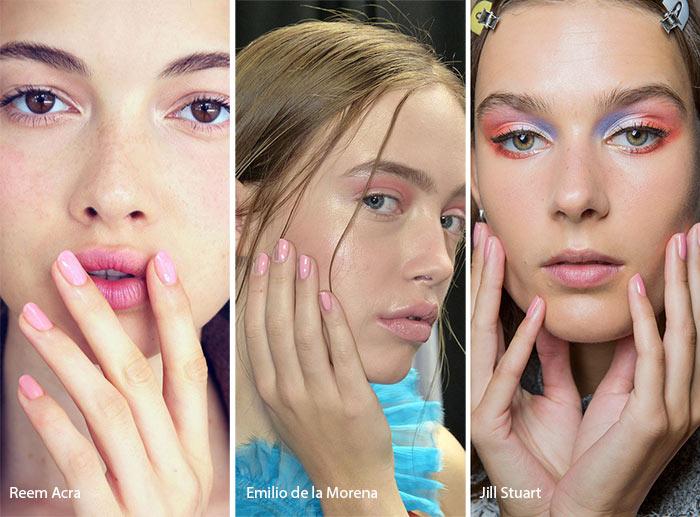 spring_summer_2017_nail_art_manicure_trends_pink_nail_polish