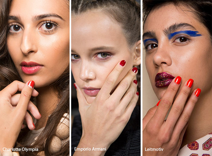 spring_summer_2017_nail_art_manicure_trends_red_nail_polish
