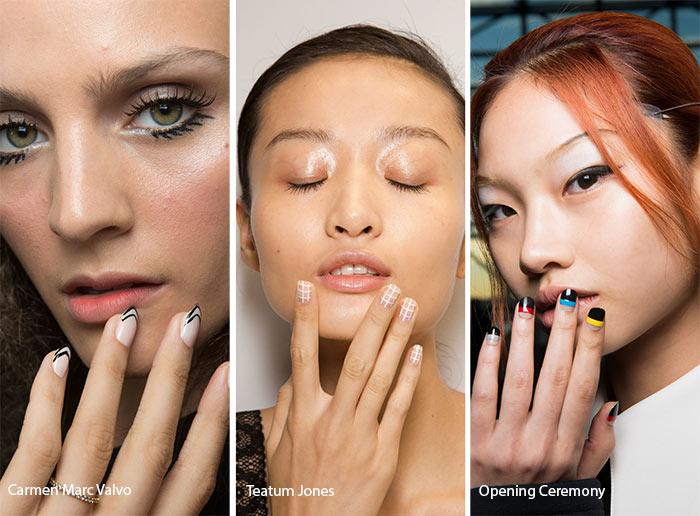spring_summer_2017_nail_art_manicure_trends_striped_geometric_nail_art1