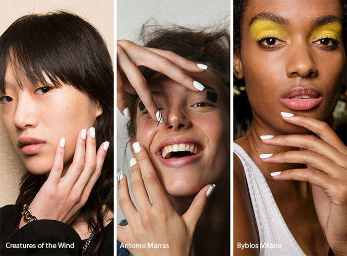 spring_summer_2017_nail_art_manicure_trends_white_nail_polish