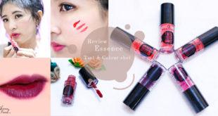 รีวิว ลิปทินท์สีสวยระเรื่อ Essence Tint & Colour shot สีสวยชัดติดทนนาน