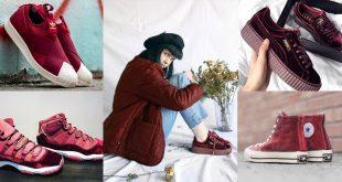 6 รองเท้าผ้าใบสีแดงสุดชิค ใส่แล้วเท้าขาวเว่อร์ !!