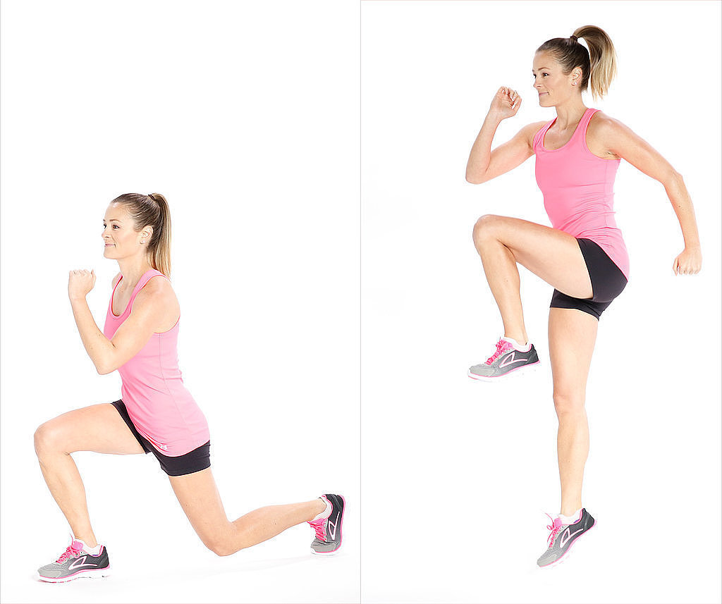 Reverse Lunges with Jump