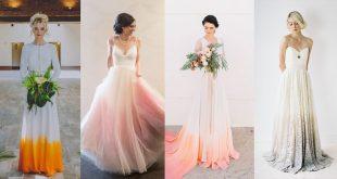 รวมแฟชั่นจุดเจ้าสาว Ombre Wedding Dress  สวย โรแมนติกไม่แพ้ชุดขาวล้วน
