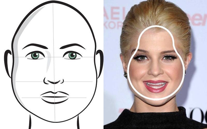 Pear or triangle face shape