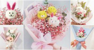 เทรนด์ใหม่เกาหลี!! ช่อดอกไม้สไมล์ลี่ (หน้ายิ้ม) และตัวการ์ตูนสัตว์สุดคิวท์
