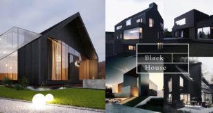 34 ไอเดียบ้านโมเดิร์นสีดำเท่ๆสไตล์สายดาร์ค สวยหรูแบบคลาสสิก