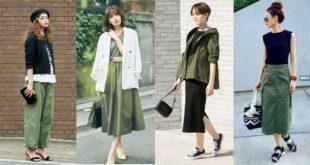 25 ไอเดียแมทช์เสื้อผ้าสีเขียวทหารสไตล์ญี่ปุ่น