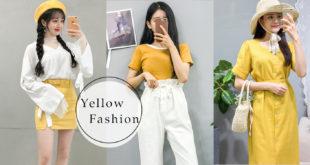 30 ไอเดียมิกซ์แอนด์แมทช์แฟชั่นโทนสีเหลืองให้ดูน่ารักสดใส