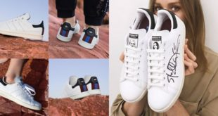 ใหม่!สนีกเกอร์สีขาวStella McCartney x adidas Stan Smithสไตล์คลาสสิก