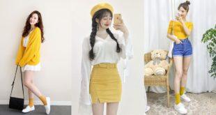 รวมไอเดียแฟชั่นชุดสีเหลือง | Yellow Cute Style ให้ความรู้สึกสดใส มีชีวิตชีวา