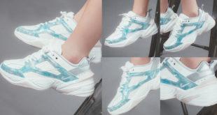 สนีกเกอร์สไตล์ Chunky สุดร้อนแรง 'Nike M2K Tekno' โทนสีฟ้าดูอินเทรนด์!