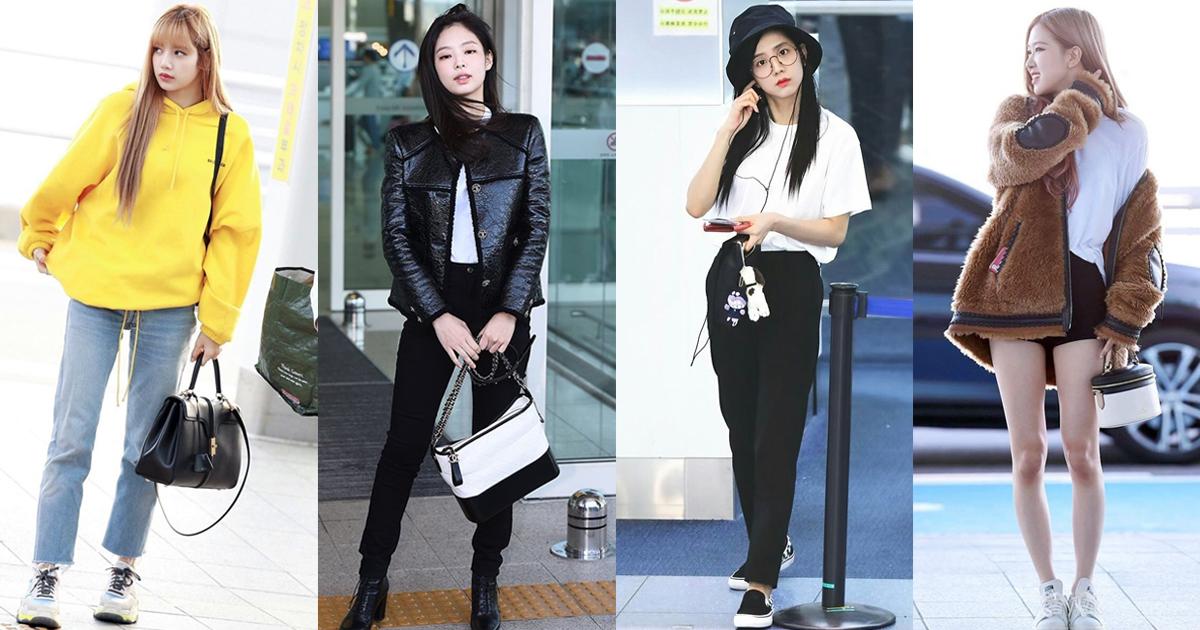 40 แฟชั่นสนามบินBlackpink Airport Fashion สวยชิคน่าแต่งตาม