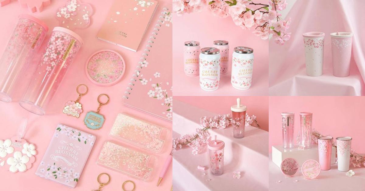 ยกทัพความคิวท์!! ไดโซะเกาหลีคอลเลคชั่น Cherry Blossom สีชมพูหวานละมุน