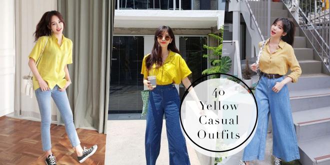 40 ไอเดียแมทช์เสื้อเหลืองไปเที่ยวสบายๆ สุภาพดูดี