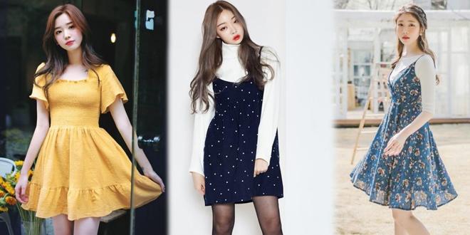 20 ไอเดียใส่เดรสกระโปรงสไตล์เกาหลี ลุคสดใสน่ารักๆ