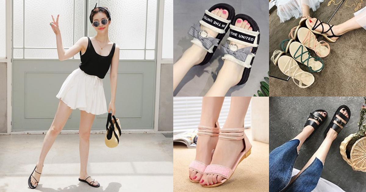 40 แฟชั่นรองเท้าแตะ Sandal สไตล์เกาหลี ต้องใส่ในช่วงหน้าฝนนี้