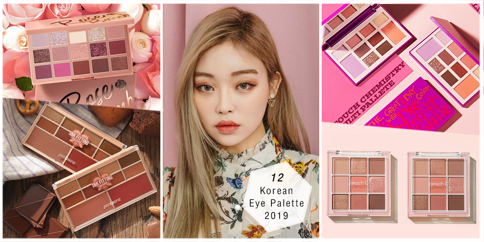 รวม 12 อายแชโดว์พาเลตต์เกาหลีน่าซื้อ ปี 2019