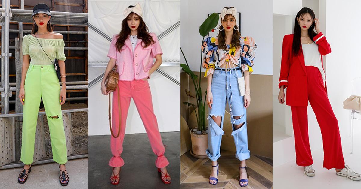 35 ไอเดียแฟชั่นคัลเลอร์ฟูล แมทช์เสื้อผ้าสีสดใส จัดจ้านสุดในย่านนี้!