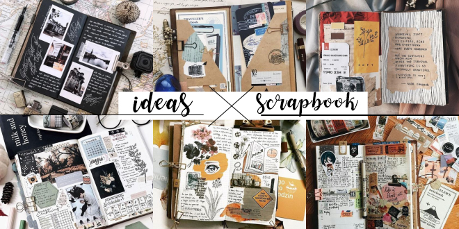 40 ไอเดีย Scrapbook จดบันทึกก็ได้ เก็บภาพสวยๆก็ดี แจกลายเส้นน่ารักฟรี!!