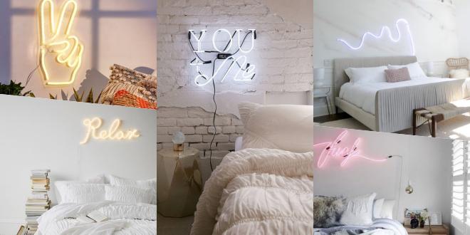 30 ไอเดียแต่งห้อง Neon Light เติมแสงสีให้ห้องนอน