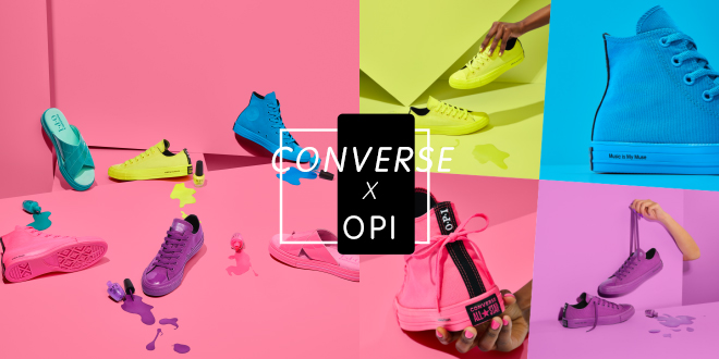 รองเท้าผ้าใบสุดจี๊ด Converse X OPI สีสันนีออนที่สาวๆ ต้องโดน!