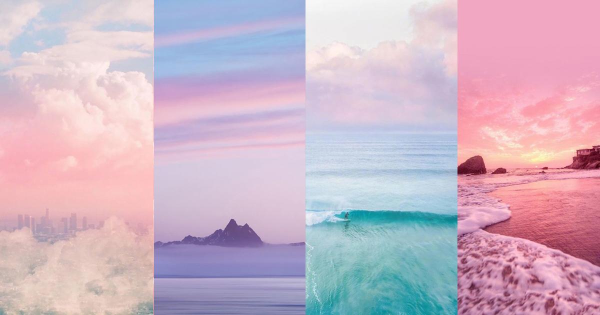 แจก!! 25 ภาพพื้นหลังวิวธรรมชาติ สีพาสเทลหวานๆ ให้ความรู้สึกสงบ