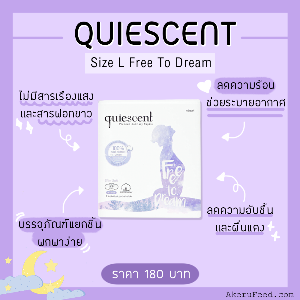 Quiescent Size L Free To Dream